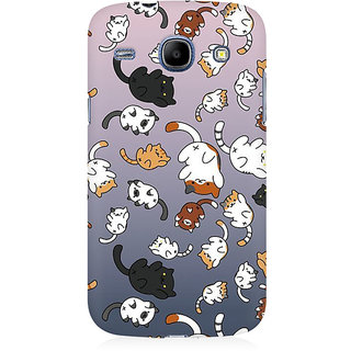 RAYITE Cat Fall Pattern Premium Printed Mobile Back Case Cover For Samsung Core I8262