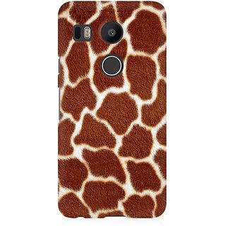 RAYITE Tiger Fur Pattern Premium Printed Mobile Back Case Cover For LG Nexus 5X