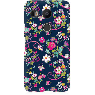 RAYITE Cute Flower And Butterfly Premium Printed Mobile Back Case Cover For LG Nexus 5X