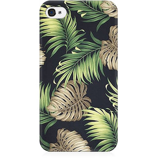 RAYITE Tropical Leafs Preum Printed Mobile Back Case Cover For   4/4s