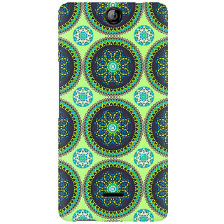 RAYITE Green Mandala Premium Printed Mobile Back Case Cover For Micromax Canvas Juice 3 Q392