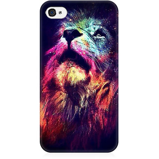 RAYITE Dream Lion Preum Printed Mobile Back Case Cover For   4/4s