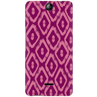 RAYITE Purple Geometric Pattern Premium Printed Mobile Back Case Cover For Micromax Canvas Juice 3 Q392