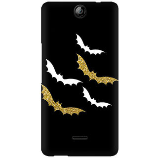 RAYITE Gold White Bats Premium Printed Mobile Back Case Cover For Micromax Canvas Juice 3 Q392