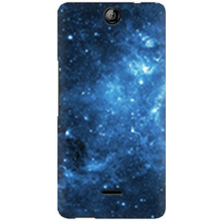 RAYITE Blue Galaxy Premium Printed Mobile Back Case Cover For Micromax Canvas Juice 3 Q392