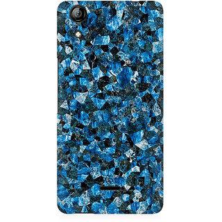 RAYITE Blue Marble Granite Premium Printed Mobile Back Case Cover For Micromax Canvas Selfie 2 Q340