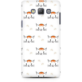 RAYITE Kitty Pattern Premium Printed Mobile Back Case Cover For Samsung A7