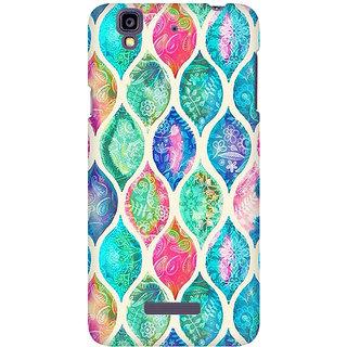 RAYITE Colourful Mandala  Premium Printed Mobile Back Case Cover For Micromax Yureka