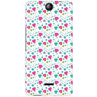 RAYITE Little Colourful Heart Premium Printed Mobile Back Case Cover For Micromax Canvas Juice 3 Q392
