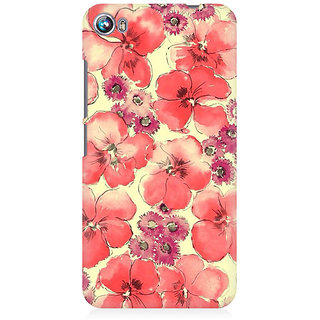 RAYITE Watercolor Flower Abstract Premium Printed Mobile Back Case Cover For Micromax Canvas Fire 4 A107