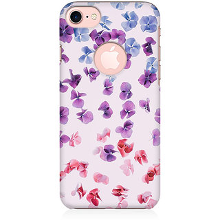 RAYITE Watercolor Flower Hub Preum Printed Mobile Back Case Cover For   7 With Round Cut