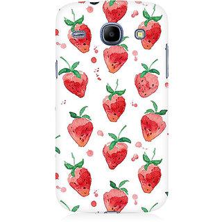 RAYITE Watercolor Strawberry Premium Printed Mobile Back Case Cover For Samsung Core I8262