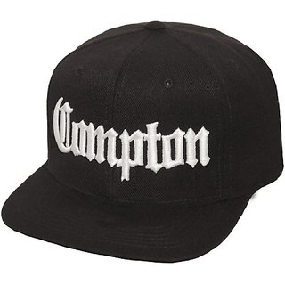 ce7f25ebdfd Buy Compton Flat Bill Snapback Black Adjustable Baseball Cap Hat Online -  Get 22% Off