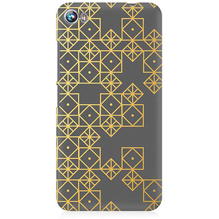 RAYITE Gold Geometric Pattern Premium Printed Mobile Back Case Cover For Micromax Canvas Fire 4 A107