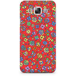 RAYITE Orange Floral Hub Premium Printed Mobile Back Case Cover For Samsung Grand 2 G7106
