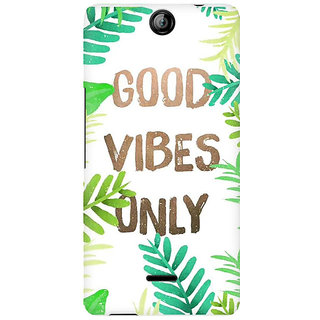 RAYITE Good Vibes Premium Printed Mobile Back Case Cover For Micromax Canvas Juice 3 Q392