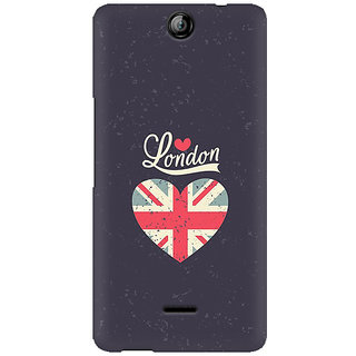 RAYITE London Love Premium Printed Mobile Back Case Cover For Micromax Canvas Juice 3 Q392