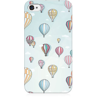 RAYITE Balloon Pattern Preum Printed Mobile Back Case Cover For   4/4s