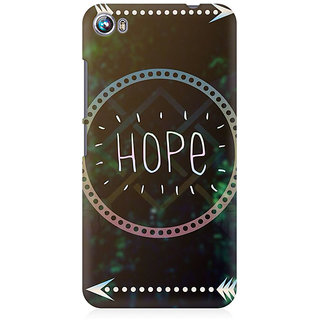 RAYITE Hope Premium Printed Mobile Back Case Cover For Micromax Canvas Fire 4 A107