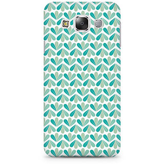 RAYITE LeafPattern Premium Printed Mobile Back Case Cover For Samsung E5