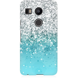 RAYITE Glitter Print Pattern Premium Printed Mobile Back Case Cover For LG Nexus 5X