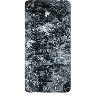 RAYITE Black Marble Premium Printed Mobile Back Case Cover For Micromax Canvas Selfie 2 Q340