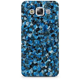 RAYITE Blue Marble Granite Premium Printed Mobile Back Case Cover For Samsung E7