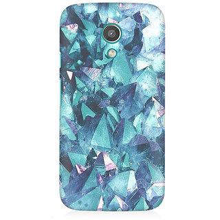 RAYITE Blue Granite Premium Printed Mobile Back Case Cover For Moto E