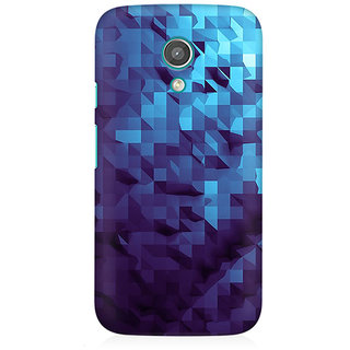 RAYITE Blue Geometric Art Premium Printed Mobile Back Case Cover For Moto E