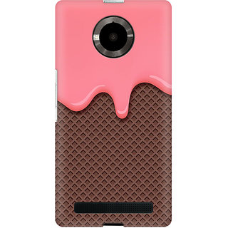 RAYITE Cream Drop Chocolate Premium Printed Mobile Back Case Cover For Micromax Yuphoria