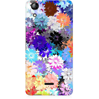 RAYITE Colourful Floral Premium Printed Mobile Back Case Cover For Micromax Canvas Selfie 2 Q340