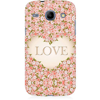 RAYITE Love Floral Premium Printed Mobile Back Case Cover For Samsung Core I8262