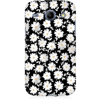 RAYITE White Daisy Pattern Premium Printed Mobile Back Case Cover For Samsung Core I8262