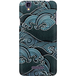 RAYITE Black Sea Waves Premium Printed Mobile Back Case Cover For Micromax Yureka