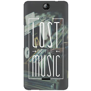 RAYITE Lost In The Music Premium Printed Mobile Back Case Cover For Micromax Canvas Juice 3 Q392