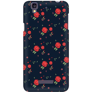 RAYITE Rose Pattern Premium Printed Mobile Back Case Cover For Micromax Yureka