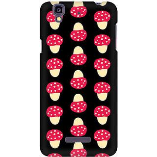 RAYITE Mushroom Pattern Premium Printed Mobile Back Case Cover For Micromax Yureka