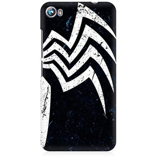 RAYITE Spider Premium Printed Mobile Back Case Cover For Micromax Canvas Fire 4 A107