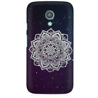 RAYITE Mandala Stars Premium Printed Mobile Back Case Cover For Moto E