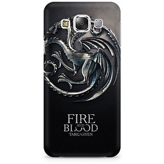 RAYITE Fire Blood GOT Premium Printed Mobile Back Case Cover For Samsung E5