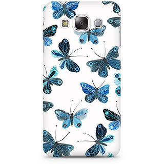 RAYITE Blue Butterfly Premium Printed Mobile Back Case Cover For Samsung Grand 2 G7106
