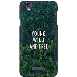 RAYITE Young Wild And Free Premium Printed Mobile Back Case Cover For Micromax Yureka