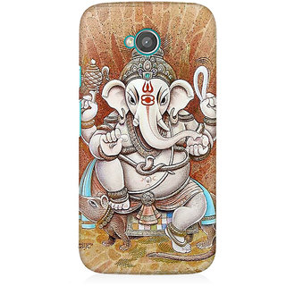 RAYITE Ganesha Premium Printed Mobile Back Case Cover For Moto E2