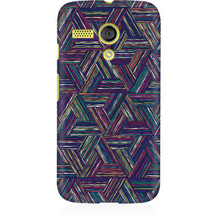 RAYITE Geometric Cross Art Premium Printed Mobile Back Case Cover For Moto G