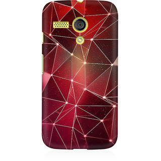 RAYITE Geometric Stars Premium Printed Mobile Back Case Cover For Moto G