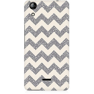 RAYITE Sky Chevron Pattern Premium Printed Mobile Back Case Cover For Micromax Canvas Selfie 2 Q340