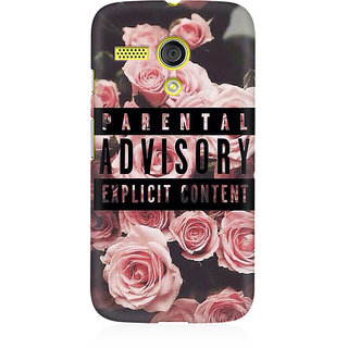 RAYITE Parental Advisory Premium Printed Mobile Back Case Cover For Moto G