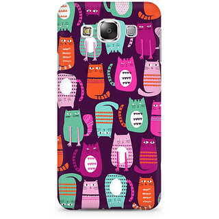 RAYITE Cat Pattern Premium Printed Mobile Back Case Cover For Samsung Grand 2 G7106