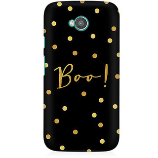 RAYITE Boo Gold Polka Dot Premium Printed Mobile Back Case Cover For Moto E2