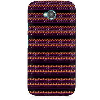 RAYITE Purple Geometric Pattern Premium Printed Mobile Back Case Cover For Moto E2